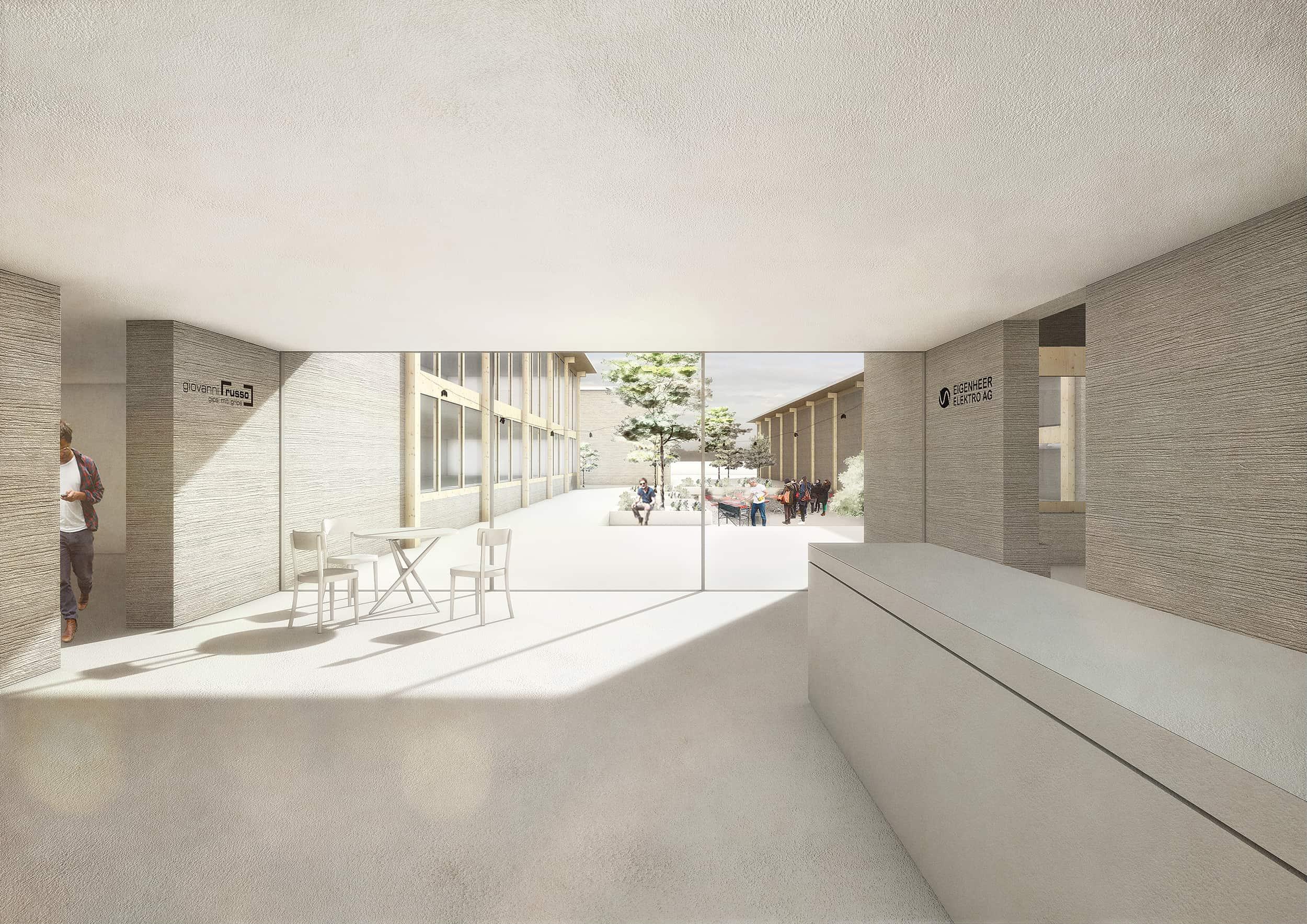Neubau Gewerbebauten // Kleinandelfingen (Wettbewerb)